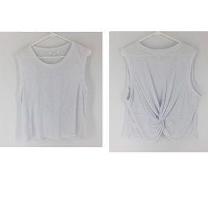 ATHLETA large TANK KNOTTED tank top shirt